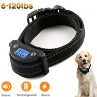 Rechargeble LCD Automatic Anti Bark No Barking Tone Shock Dog Training Collar