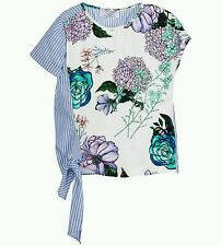 NWT NEW Young Versace girls lilac floral print blouse top 6y NEW SEASON $185