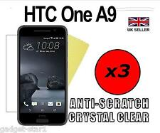 3x HQ CRYSTAL CLEAR SCREEN PROTECTOR COVER LCD Guard Film SAVER per HTC One A9