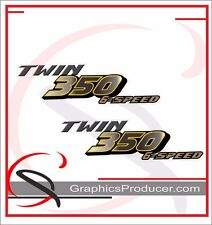 Yamaha Banshee Decals 350 Twin Reproduction Two Set Stickers  Custom Design