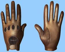 NEW MENS size 7.5 METALLIC BRONZE GENUINE KID LEATHER DRIVING GLOVES