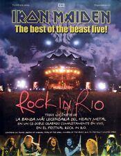 IRON MAIDEN 2001 ROCK IN RIO RARE MEXICO PROMO POSTER ORIGINAL