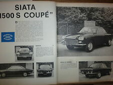 PROVA SU STRADA SIATA  FIAT 1500 S COUPE'  -  1962