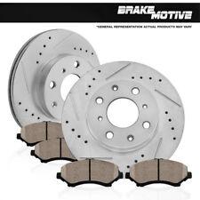 Front Brake Disc Rotors And Ceramic Pad Kit 2011 2012 2013 2014 2015 Ford Fiesta