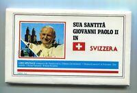 s11406) VATICANO 1984 FDC Visita Papa Giovanni Paolo II - SVIZZERA  (12 BUSTE)