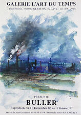 Tony BULLER(1938)PROJET à la Main pour son affiche d'expo Saint Germain en Laye