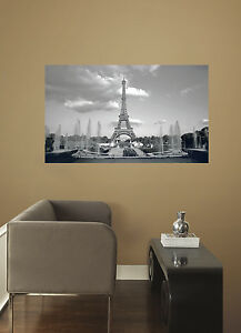 Eiffel Tower Wall Decal 3' x 5' Peel and Stick Mural Stickers Paris Decor NEW