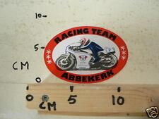 STICKER,DECAL RACING TEAM ABBEKERK WIBA REKLAME NO 2 WEGRACE