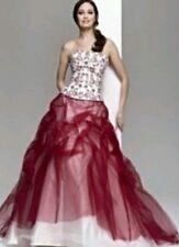 JULIAN & ADAM Prom / Wedding Dress Size 12 UNUSED stunning Red / White