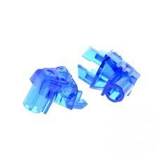 2 x Lego Bionicle Figurines Head Eyes Brain Connector Transparent Dark Blue Bloc
