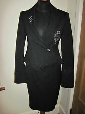 FIRETRAP Skirt & fitted Jacket Suit 10 New 1950s wiggle war bride sexy AIR HOST