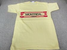Vintage 70s/80s Montreal Canada Travel Novelty T Shirt Quality Goods Tg Sz L