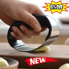 Stainless Steel Manual Garlic Press Crusher Squeezer Masher Kitchen-Tool  Hot