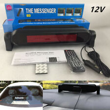 12V Car Dash Scrolling LED Panel Display Editable Advertise Sign Remote Control