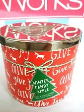 Bath and Body Works WINTER CANDY APPLE 3-WICK CANDLE 14.5 OZ ** NEW **
