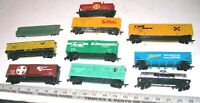 Lot of 10 Vintage TYCO BACHMANN & Other HO Scale Freight Train Railroad RR Cars