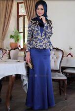 US Muslim Kaftan Islamic Women Long Sleeve Cocktail Abaya Jilbab Long Maxi Dress
