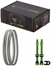 "CushCore Tire Inserts Set 29"" x 2.1~2.5""  Pair with 2 Tubeless Valves"