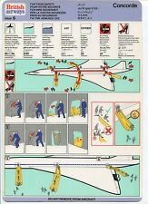 BRITISH AIRWAYS CONCORDE SAFETY CARD ISSUE 6