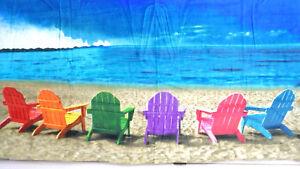 Rainbow Beach Chairs on Beach Scenery Bath Towel 30 x 60