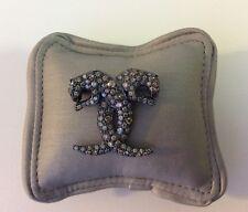 18k Solid Gold Brooch fancy diamond Black Panthera theme