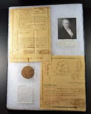"1810 - GEORGIA LAND DEED ""SCURVIN COUNTY"" SIGNED BY GOVERNOR DAVID MITCHELL"