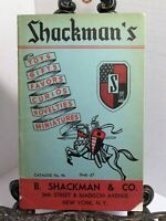 SHACKMAN'S CATALOG 1946 1947 Favors Tillicum Boat Sets Beton Toys Halloween MORE