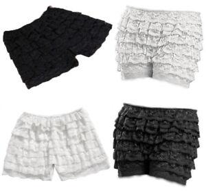 8 Layers Lace Frilly Ruffle Knicker Sexy Underwear Shorts Hot Pants Safety Skirt