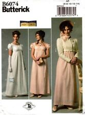 Butterick Sewing Pattern B6074 6074 Misses Dress Hat Costume Size 6-14 NEW