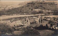 Wales postcard - Tintern Abbey Above View RN.43