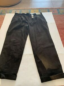 Braggi by Louis Raphael Pleated & Cuffs Courdory pants Forest 42x32 NWT