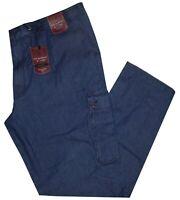 Jeans uomo taglie forti 3XL 4XL 5XL 6XL 7XL pantalone laccio denim leggero DARCY