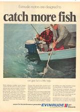 1980  EVINRUDE OUTBOARD MOTORS MAGAZINE AD    MEN  FISHING