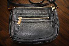 Michael Kors Julia Medium Leather Messenger Bag Black