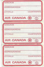 LOT OF THREE AIR CANADA NAME AND ADDRESS LUGGAGE LABELS,ENGLISH AND FRENCH