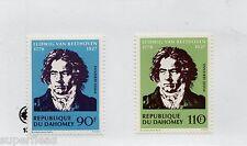 1970 France Dahomey Sc #C129-30 ** MNH vf airmail set musician Beethoven