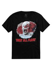 IT (1990) THEY ALL FLOAT PENNYWISE T-SHIRT death scene tee SMALL (S) tim curry