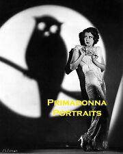 FRANCES DEE 8X10 Lab Photo 1931 HALLOWEEN Promo Portrait Owl in Shadow