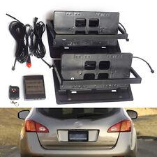 2pcs Electric License Plate Frame Flipper Hidden Flip Turn Off & Remote Control