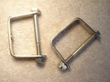 2 Early Flathead Ford type Polished Stainless Steel Spring Clamps Hot Rod front