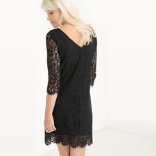 LA REDOUTE LADIES LACE DRESS BLACK SIZE 12 NEW (ref 322)