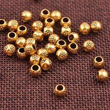 50/100Pcs Antique Tibetan Silver Tube Charm Spacer Beads for Bracelet 3035