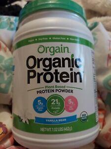 🔥 Orgain Organic Plant Based Protein Powder Vanilla 1.02 lb exp 3/21++