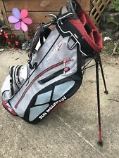 Sun Mountain Three 5 Stand Golf Bag 3.5 Red/Black/Gray Very Good Condition!