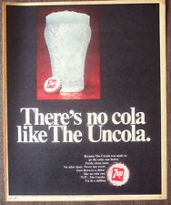 """Print Ad 1968 7up The Uncola Full Page 10.5""""x14"""" VG+"""