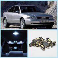 Audi A4 B5 8D Bright White LED Interior Light Kit Error Free Bulb Auto Part 9PCS
