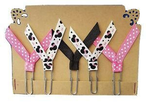 Set of 5 Handmade Decorative Paper Clip Planner Book Marks - MINNIE MOUSE PINK