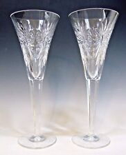 Pair of Waterford Crystal Millenium Series Fluted Champagne Stem Goblet - 9 1/8""