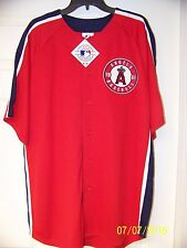 RARE MAJESTIC AUTHENTIC ANAHEIM LOS ANGELES ANGELS 1961 PATCH JERSEY SIZE XL