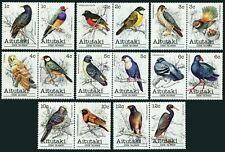 Aitutaki 215-246D,hinged.Michel 370-405. Birds 1981-1982.Names in description.
